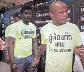 Inmigrantes ilegales en Bangkok Tailandia