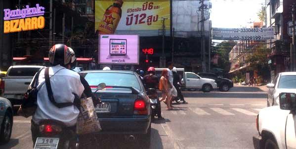Semáforo en Bangkok Tailandia