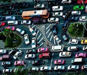 Atasco en Bangkok Tailandia