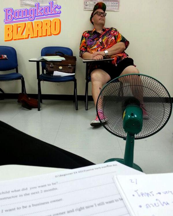 Farang gordo hortera en inmigración