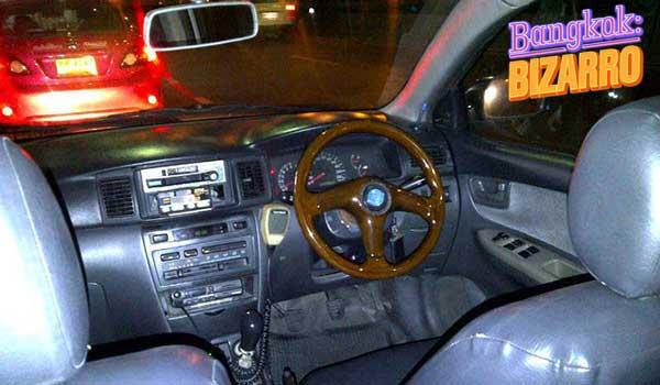 Taxi en Bangkok sin conductor