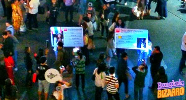 Marco de fotos para manifestaciones Bangkok