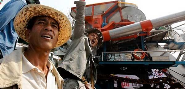 Granjeros en Tailandia