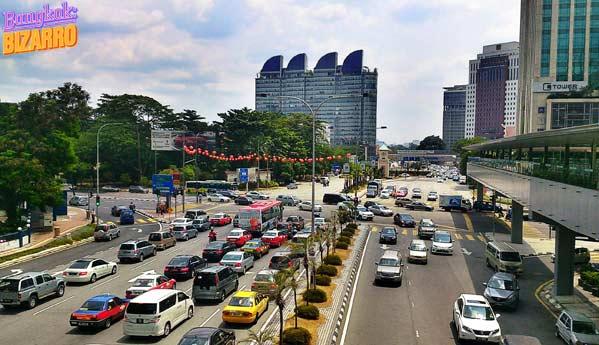 tráfico en Kuala Lumpur