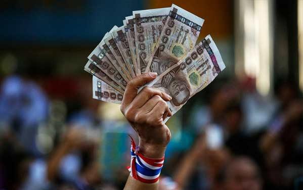 Mujer dinero Tailandia