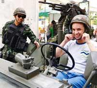 Militar en Bangkok
