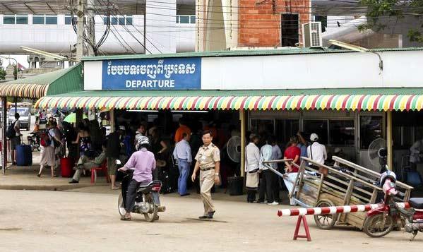 Frontera de Poipet en Camboya