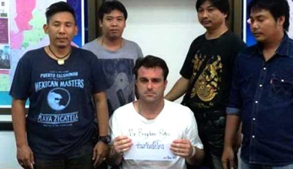 Policía tailandesa estafa