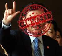 Thaksin censurado