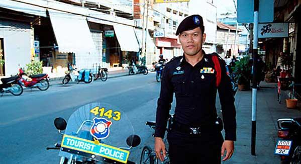 Policía turística en Tailandia