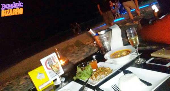 Cenar en Koh Samed noche