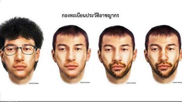Atentado Tailandia retrato robot