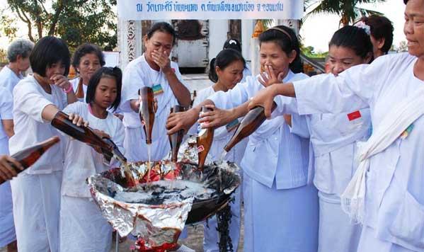 ritual budista purificacion tailandia