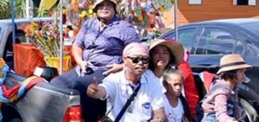 Gente Tailandia carretera