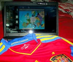 Camiseta y mapa de España