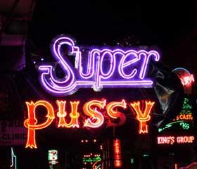 Super Pussy en Bangkok, sitio de chicas