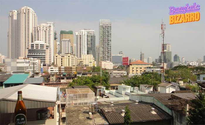 Vistas desde Rompo Mansion en Bangkok.