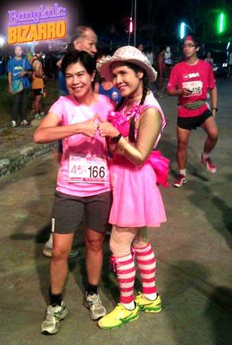 disfrazadas para correr en Bangkok