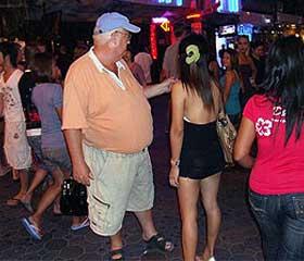 Farang con prostituta