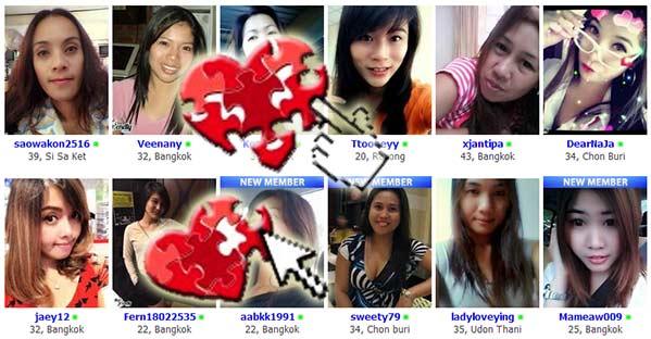 Ligar en Internet con tailandesas