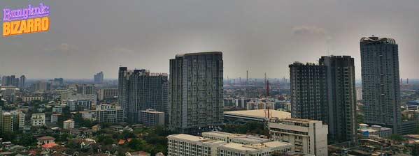 Panorámica de Bangkok en On Nut pisos construcción