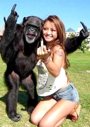 Chica mono