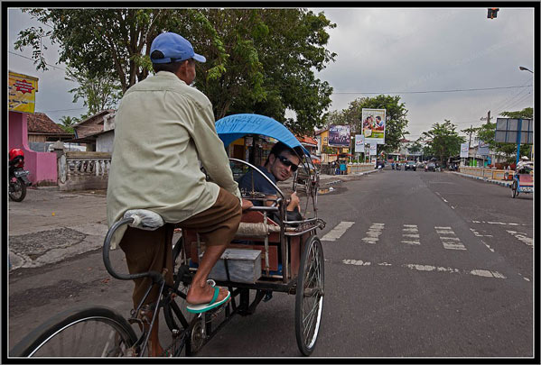 Rickshaw en Bondowoso Indonesia