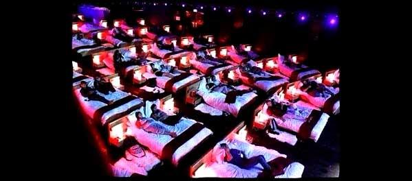 Cine en Central Embassy Bangkok camas