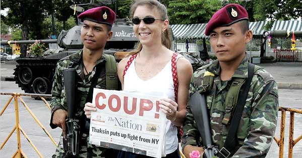 Periodistas de golpe de Estado Tailandia