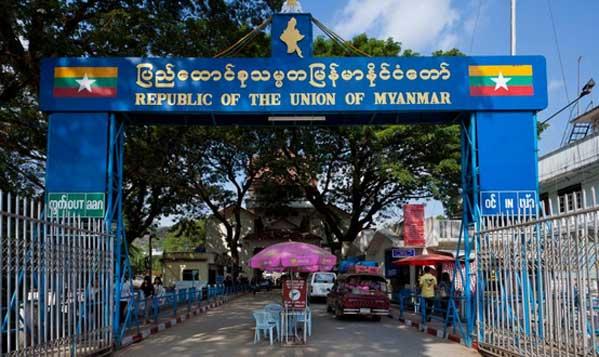 Frontera de Tachileik en Birmania