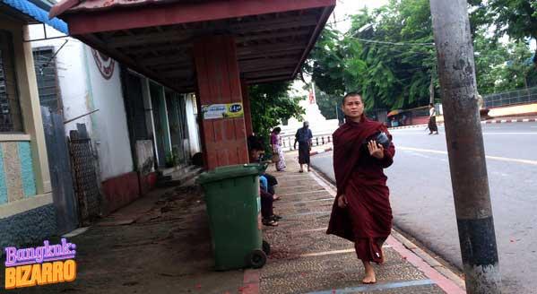 Monje birmano Rangún