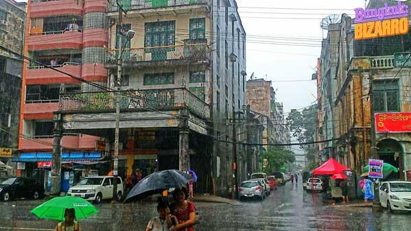 Rangún calles colonial