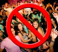 prohibir fiesta
