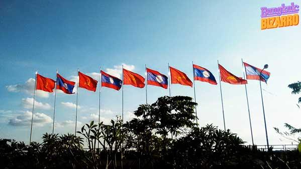 Laos banderas comunismo