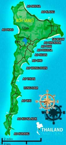 mapa koh samed