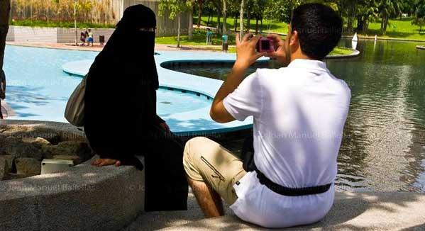 Burka en Kuala Lumpur Malasia