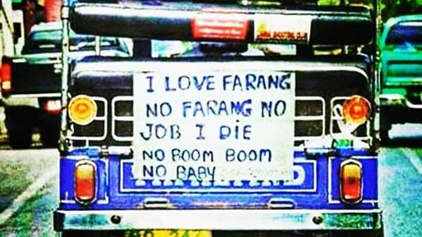 I love Farang