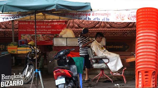 Peluquería Camboya Phnom Pehn