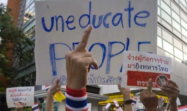 Imagen de las protestas de 2013, donde los ricos movilizaron a las clases medias para pedir que se eliminase la democracia de manera temporal. El asunto acabó en golpe de Estado.