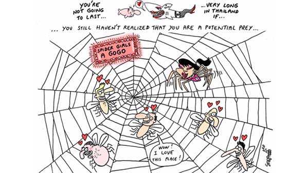 Arañas mujeres Bangkok
