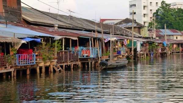 casas flotantes Bangkok