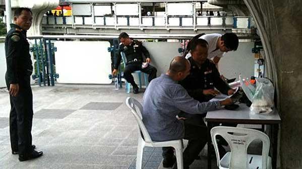 policía cigarrillo Bangkok