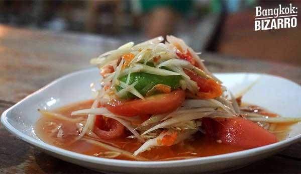 Ensalada papaya Tailandia