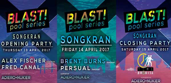 Blast! pool party Songkran 2017