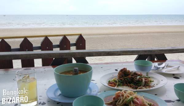 Restaurante playa Hua Hin