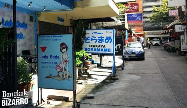 Barrio chicas japoneses Bangkok