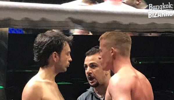 Árbitro en pelea de boxeo