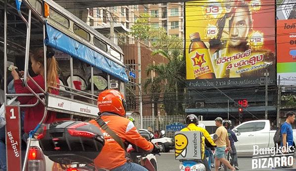Bangkok ciudad tráfico
