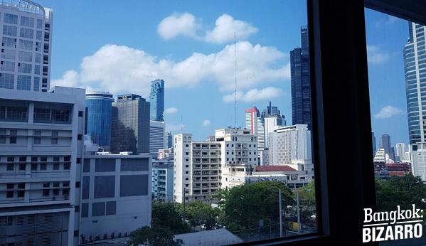 Vistas de Bangkok desde hospital