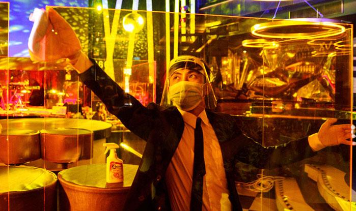 Limpiador bares covid Bangkok
